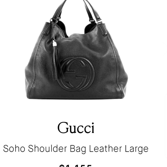 Gucci Handbags - GUCCI SOHO BLACK LEATHER HOBO BAG